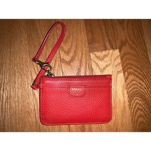 Red Fossil Wristlet